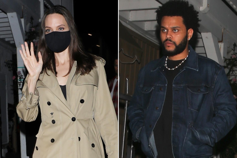 أنجلينا جولي و The Weeknd يتشاركان العشاء الثاني معًا في لوس أنجلوس