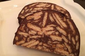 البسكويت بالشوكولا