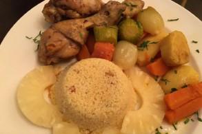 الكسكس بالدجاج والخضراوات