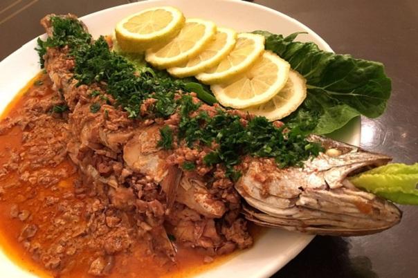 طبق السمكة الحارة
