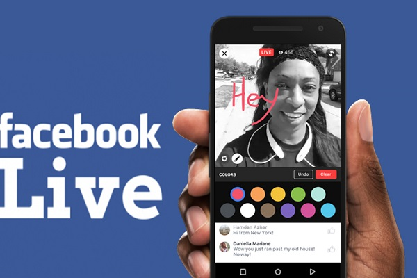 فيس بوك تطلق ميزة البث المباشر