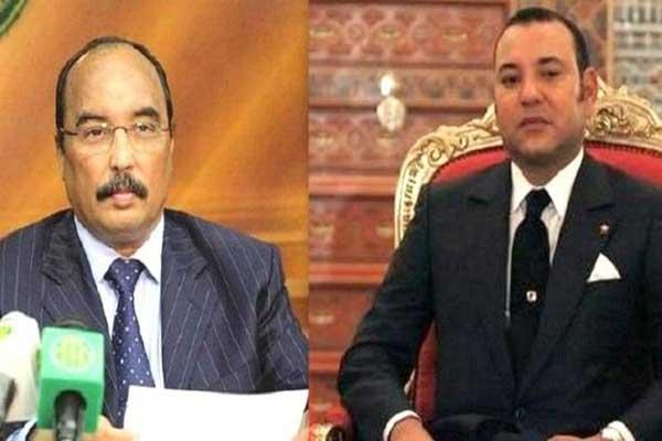 الملك محمد السادس والرئيس محمد ولد عبد العزيز