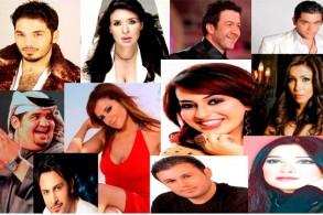 صورة مركَّبة لمجموعة من الفنانين العرب