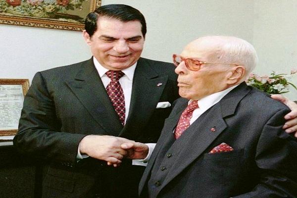 رئيسا تونس السابقين بورقيبة وبن علي