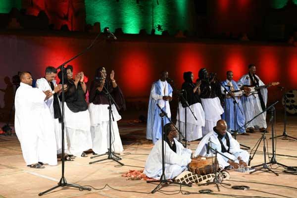 من حفل افتتاح الدورة السابعة للمهرجان الوطني لفن أحواش بقصبة تاوريرت