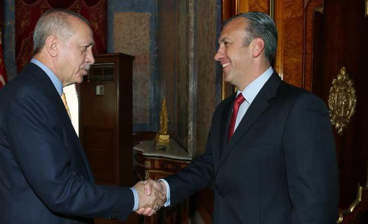 اردوغان مستقبلا نائب الرئيس الفنزويلي