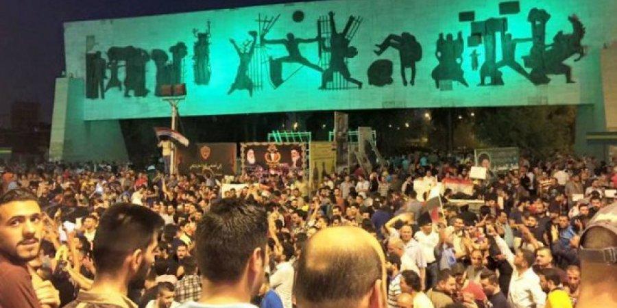 محتجون بوسط بغداد ضد فساد النظام السياسي - أرشيفية