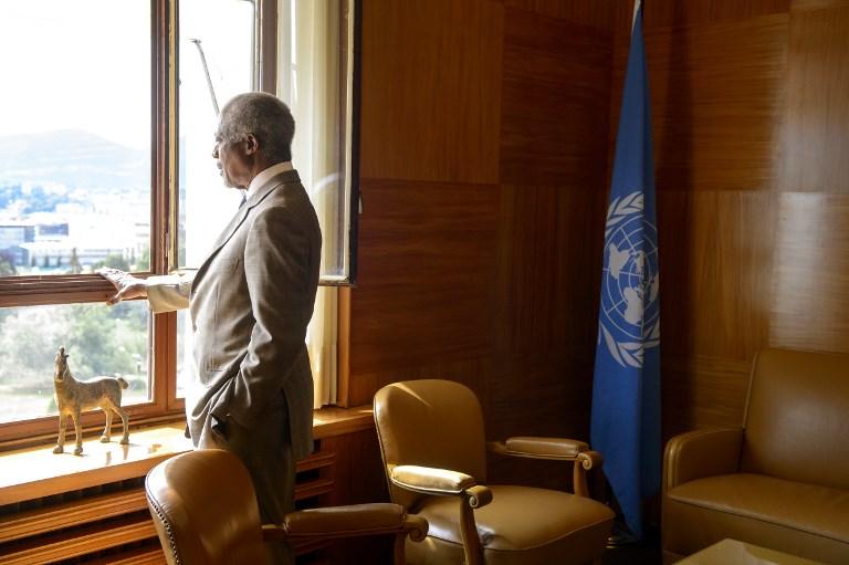 الراحل كوفي أنان في مكتبه - أرشيفية