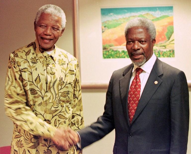 كوفي أنان مع نيلسون مانديلا - أرشيفية