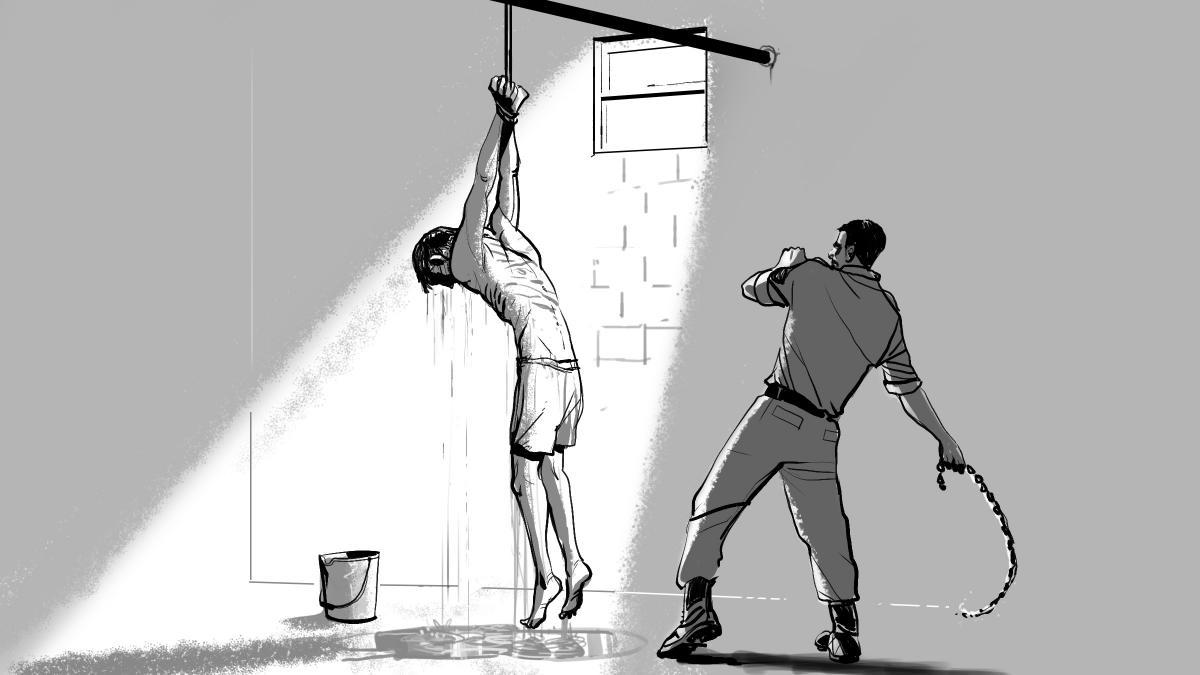 صورة تعبيرية لعمليات تعذيب معتقلين
