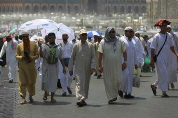 حجاج مسلمون في مكة المكرمة بتاريخ 18 أغسطس 2018