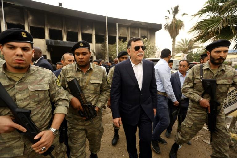 رئيس حكومة الوفاق الوطني الليبية المعترف بها دولياً فائز السراج في 2 مايو 2018 في العاصمة طرابلس