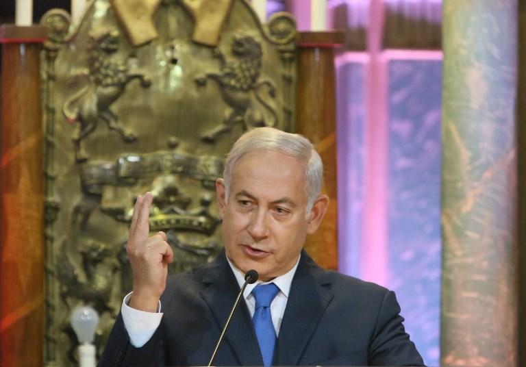 رئيس وزراء إسرائيل خلال زيارته لليتوانيا