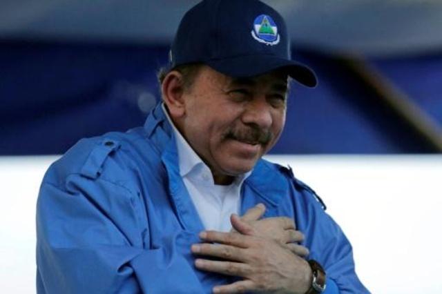 رئيس نيكاراغوا دانيال اورتيغا مخاطباً مناصريه