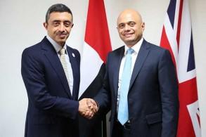 وزير الداخلية البريطاني مستقبلًا وزير خارجية الإمارات