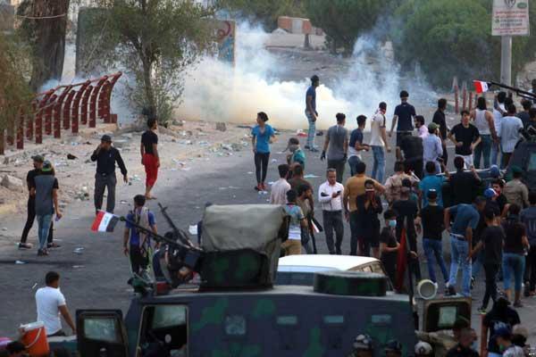 مواجهات بين المحتجين وقوات الأمن في البصرة