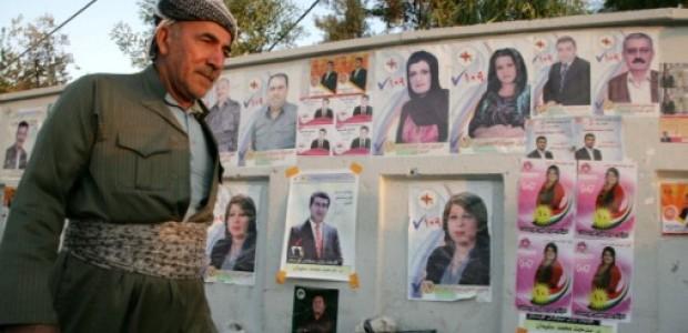 دعايات انتخابية للمرشحين في محافظات اقليم كردستان