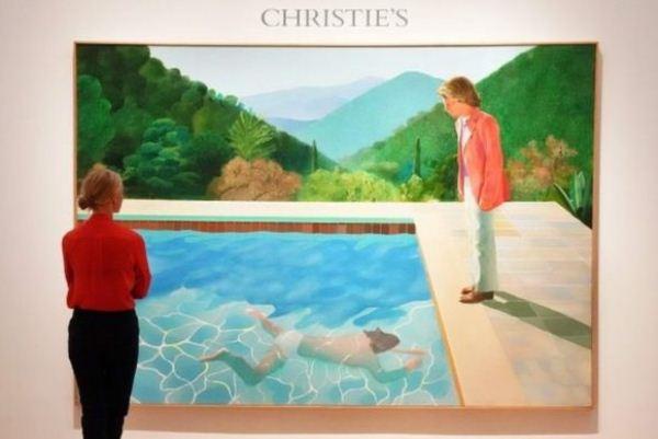 لوحة الفنان البريطاني ديفيد هوكني