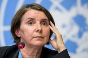 القاضية الفرنسية كاترين مارشي اوهيل رئيسة الالية المكلفة جرائم الحرب في سوريا