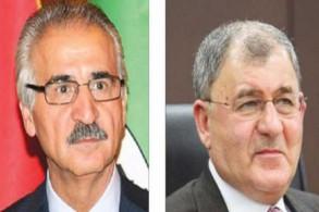 لطيف رشيد (يمين) وملا بختيار مرشحا الاتحاد الوطني الكردستاني لرئاسة الجمهورية العراقية
