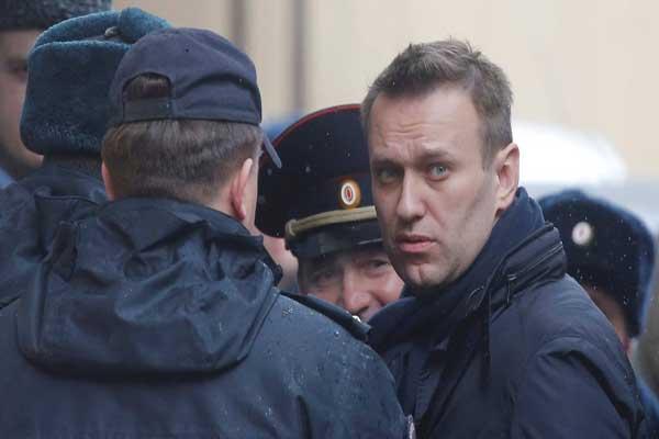 زعيم المعارضة الروسية أليكسي نافالني