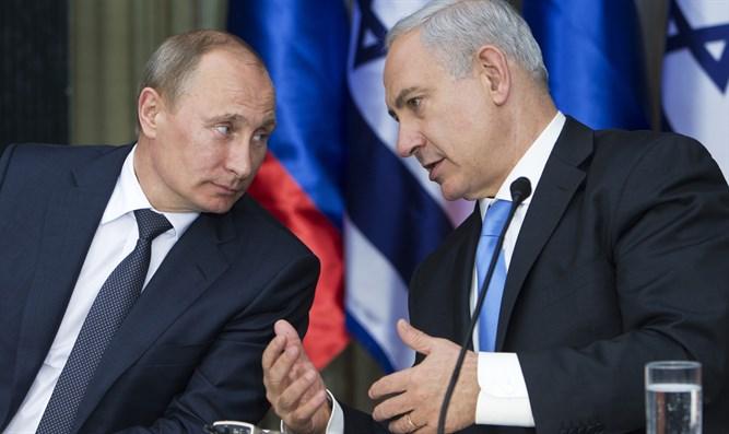 نتانياهو وبوتين خلال لقاء سابق - أرشفية