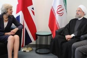 الرئيس الإيراني خلال اجتماعه مع ماي