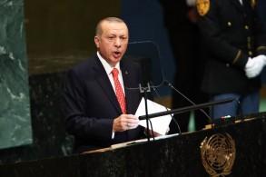 الرئيس التركي متحدثا أمام الجمعية العامة للأمم المتحدة