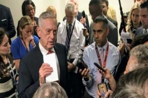 وزير الدفاع الأميركي جيم ماتيس يتحدث إلى صحافيين في البنتاغون بتاريخ 24 سبتمبر