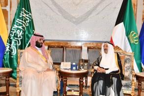 أمير الكويت مستقبلا ولي العهد السعودي