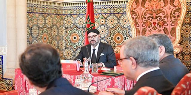 الملك محمد السادس لدى ترؤسه اليوم مجلس الوزراء