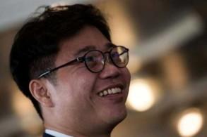 المنشق الكوري الشمالي جي سيوغ هو خلال المحاضرة في نادي الصحافة الوطنية في واشنطن بتاريخ 9 أكتوبر 2018