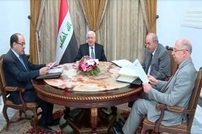 الرئيس العراقي السابق فؤاد معصوم ونوابه