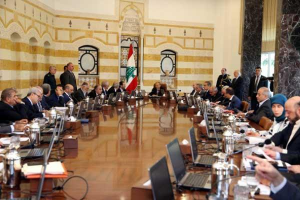 مجلس الوزراء اللبناني ملتئمًا خلال إحدى جلساته السابقة في العام الماضي