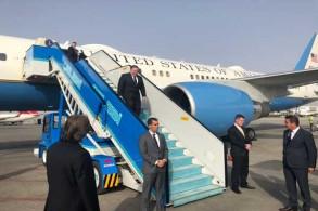 لحظة وصول بومبيو إلى مطار أنقرة