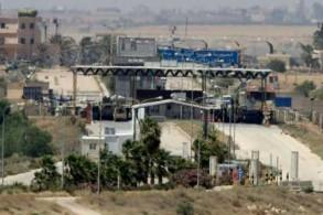 معبر جابر نصيب الحدودي بين جنوب سوريا والأردن، في لقطة من الجانب الأردني بتاريخ 7 يوليو 2018