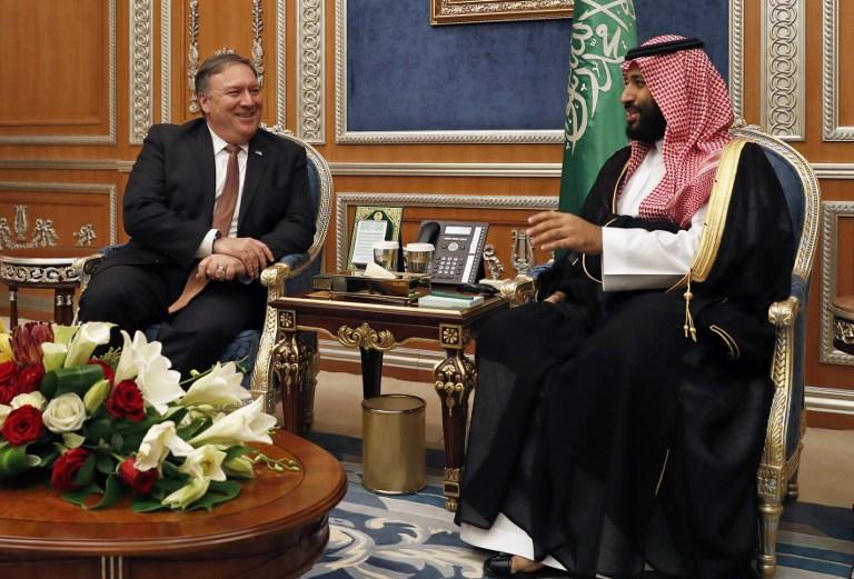 الأمير محمد بن سلمان محادثا بومبيو في الرياض