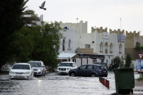 جانب من فيضانات قطر