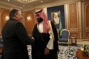 ولي العهد السعودي مستقبلا بومبيو في الرياض