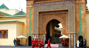بوابة أحد القصور الملكية بالمغرب