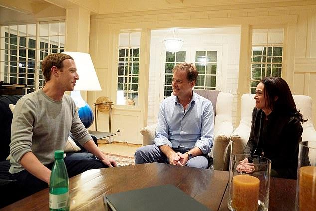 مارك زكيبريرغ وجلسة عمل مع كليغ وزوجته