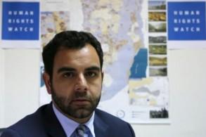 صورة لعمر شاكر مدير مكتب هيومن رايتس ووتش لاسرائيل والاراضي الفلسطينية التقطت في 9 أيار/مايو 2018