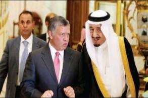 العاهلان السعودي والأردني يلتقيان في الرياض