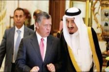 عاهل الأردن يحادث الملك سلمان في الرياض