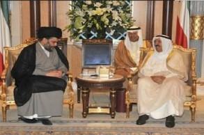 الصدر مجتمعا في وقت سابق مع أمير الكويت - أرشيفية