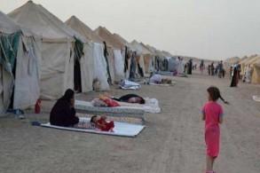 مخيم الركبان للاجئين السوريين في الأردن