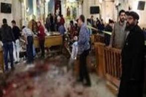 إحدى الكنائس في مصر بعد استهدافها من قبل الجماعات المتشددة
