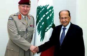 الرئيس عون مستقبلا كبير مستشاري الدفاع البريطاني