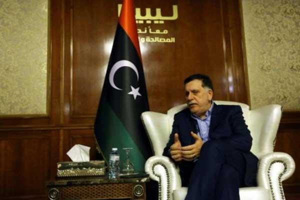 رئيس حكومة الوفاق الوطني الليبية فايز السراج في مقابلة مع وكالة فرانس برس في طرابلس بتاريخ 8 نوفمبر 2018