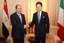 السيسي يلتقي رئيس الوزراء الإيطالي لبحث الأوضاع في ليبيا